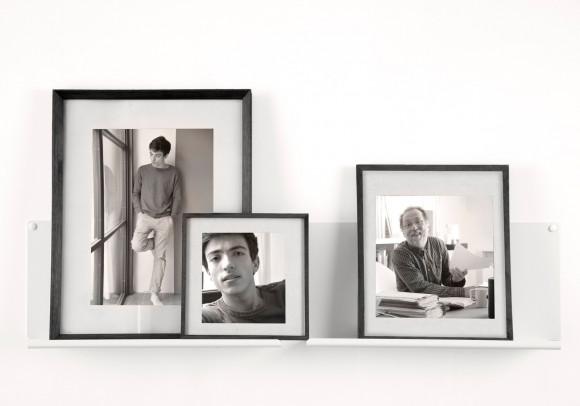 """Mensole per cornici e quadri """"LE"""" - Set di 2  - 45 cm - Bianco - Acciaio"""