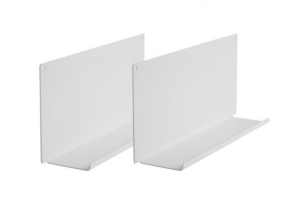 """Mensola  modulare """"LE"""" - Set di 2 - 10x45 cm - Acciao - Bianco"""