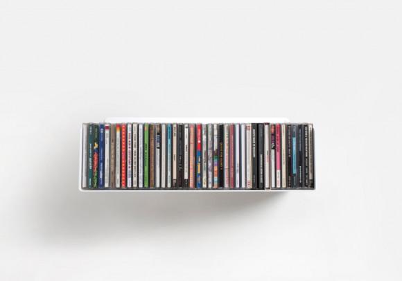 Mensola porta CD - USCD - 45 cm - Acciaio
