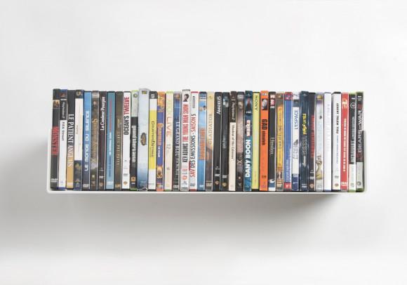 Étagère range DVD UDVD - 60 cm - Acier