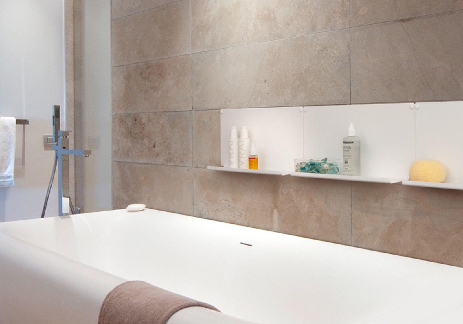 Mensole per bagno le set di 2 10 cm acciao bianco for Mensole angolari per bagno