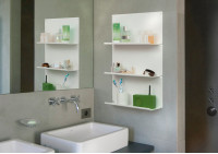 "Set of 2 bathroom wall shelves ""LE"""