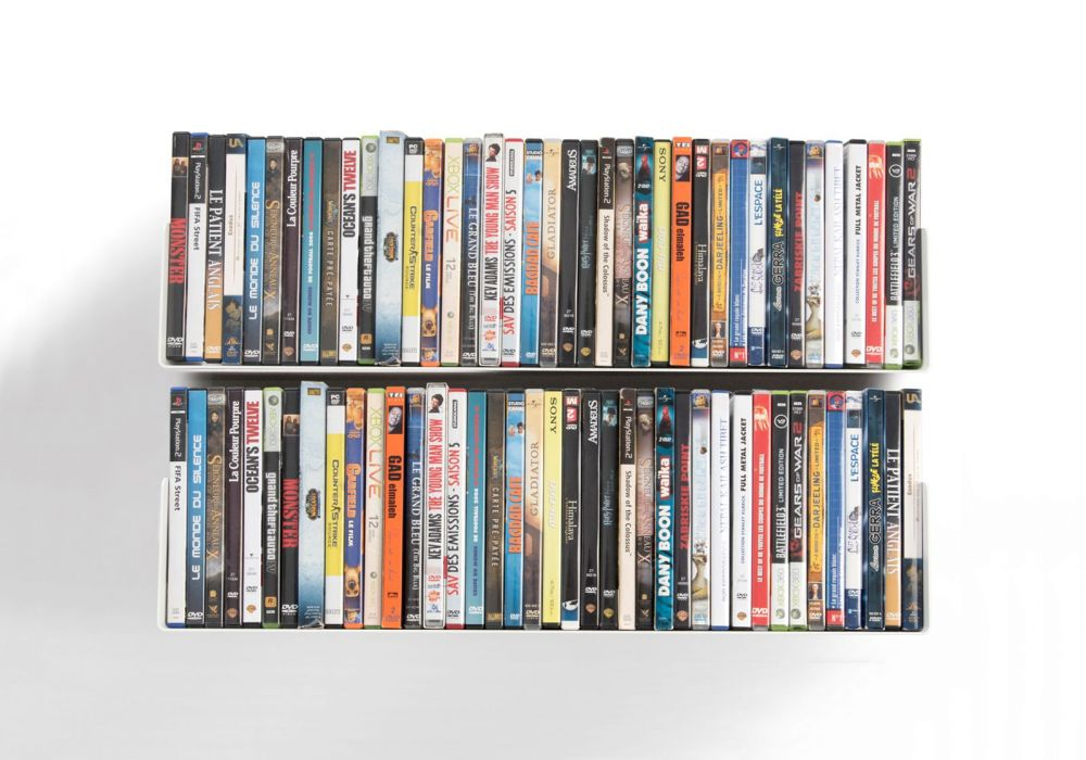 Juego de 2 UDVD - Estantes para DVD