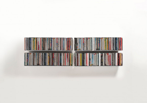CD Wall Shelf 45 x 15 cm - Set of 4
