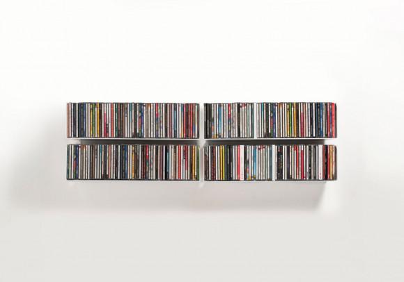 Porta CD 45 cm - Set di 4