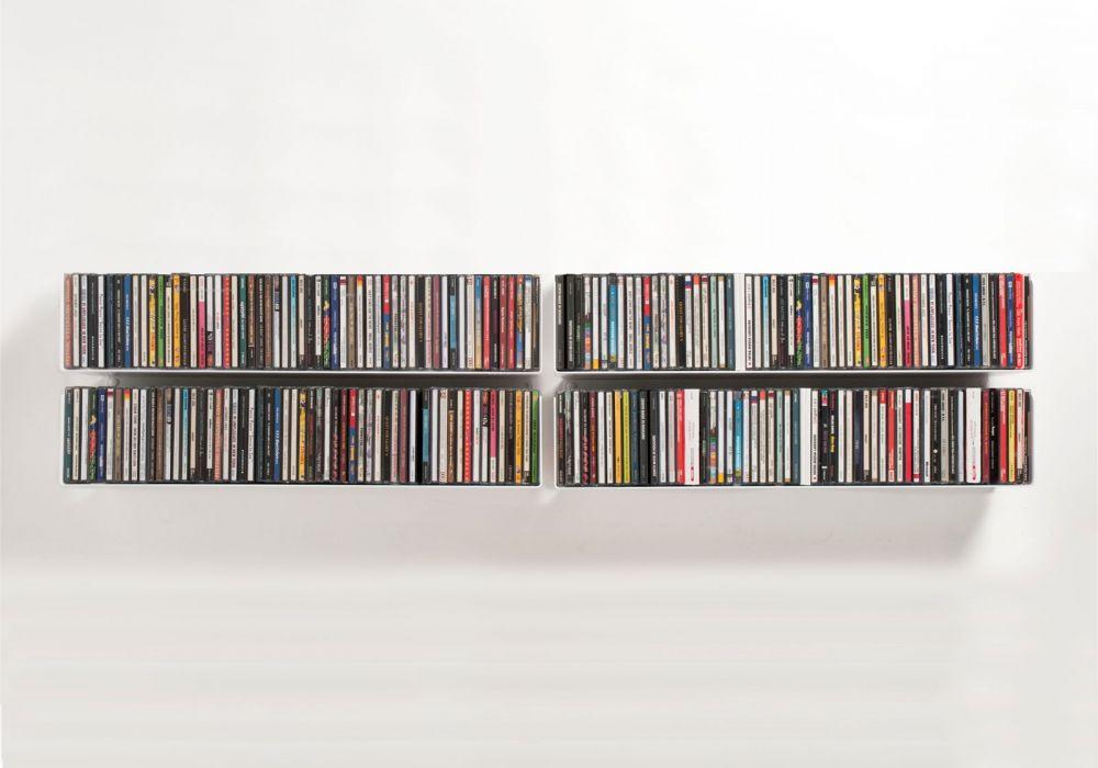 Étagère range CD UCD - Lot de 4