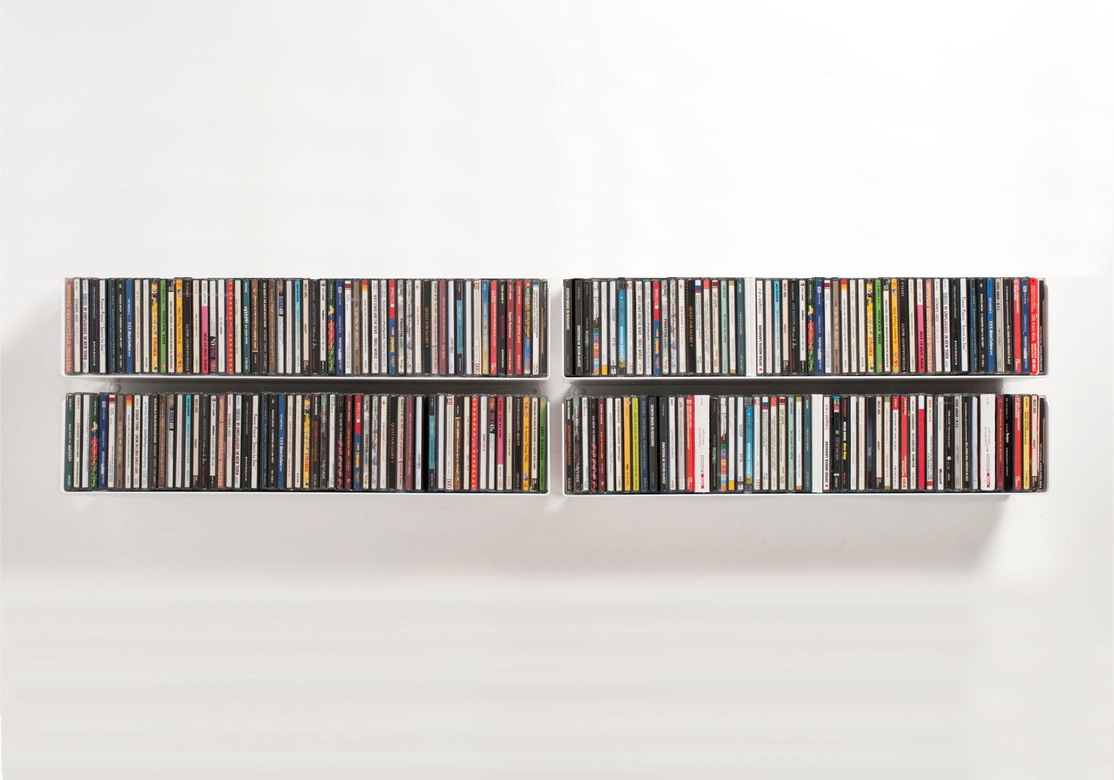 Mensola porta CD | Mensole a muro di design porta CD | Teebooks ...