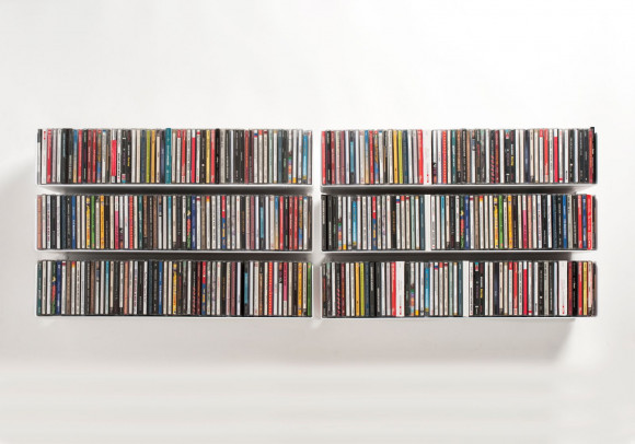 CD Wall Shelf 60 x 15 cm - Set of 6