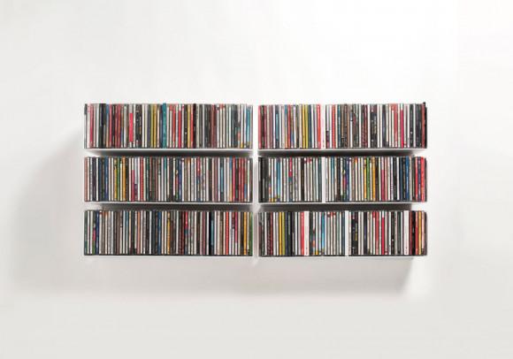 Mensola porta CD - Set di 6 - 45 cm - Acciaio