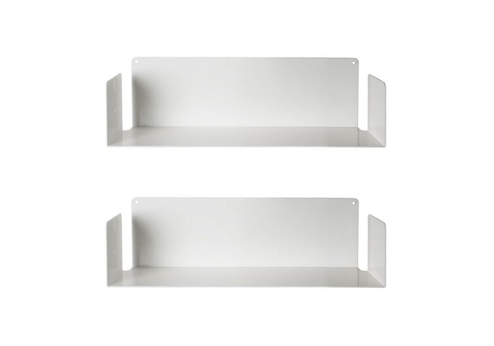 Tag re pour livre us 45 cm lot de 2 acier for Etagere 50 cm de large