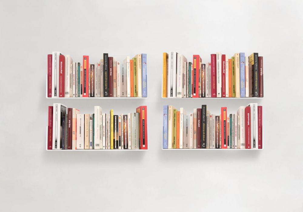 "Set of 4 Bookshelves ""US"""