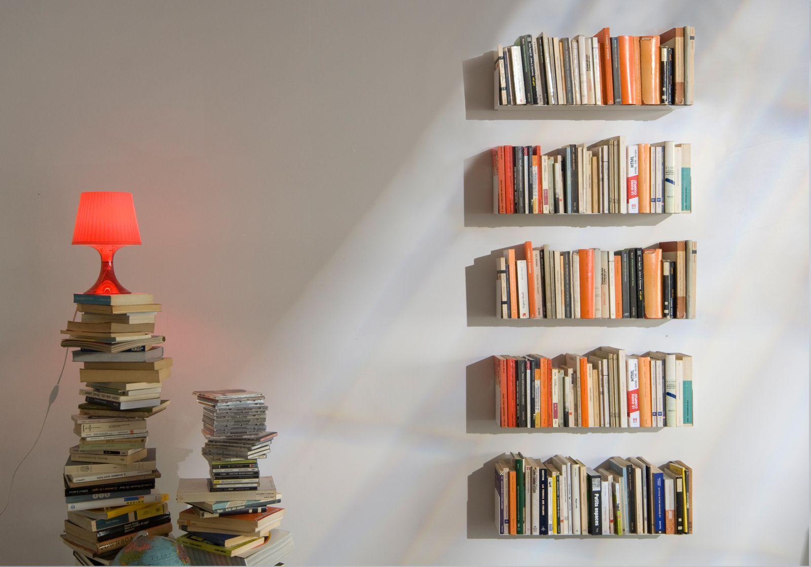 Mensole per libri us set di 4 acciao for Scaffali a parete