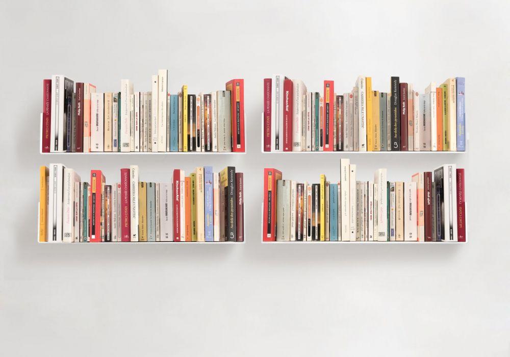 tag re pour livre 60 x 15 cm lot de 4 acier. Black Bedroom Furniture Sets. Home Design Ideas