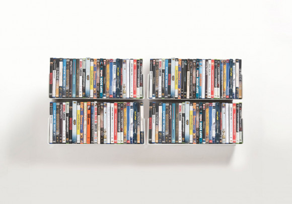 DVD Wall Shelf 45 x 15 cm - Set of 4