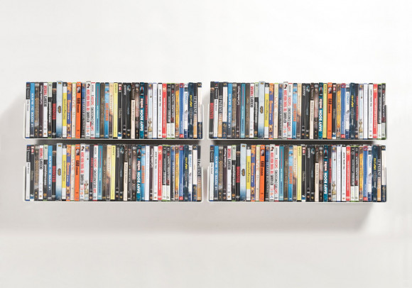Étagère range DVD UDVD - Lot de 4 - 60 cm - Acier