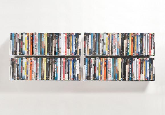 Mensole porta DVD - Set di 4 - 60 cm - Acciao
