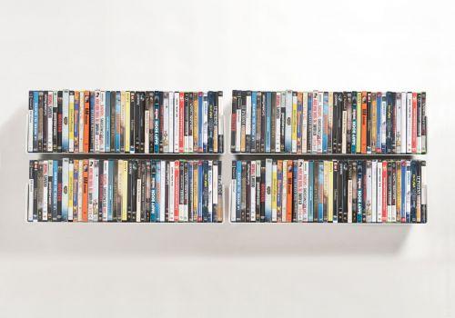Étagère range DVD USDVD - Lot de 4