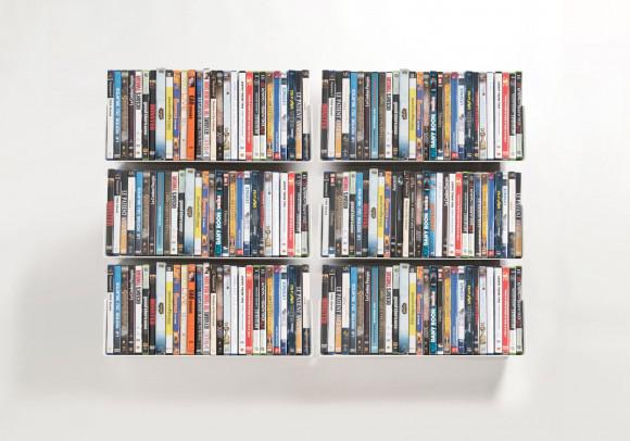 Mensole porta DVD - Set di 6 - 45 cm - Acciaio