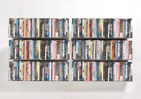 Étagère range DVD UDVD - Lot de 6 - 60 cm - Acier