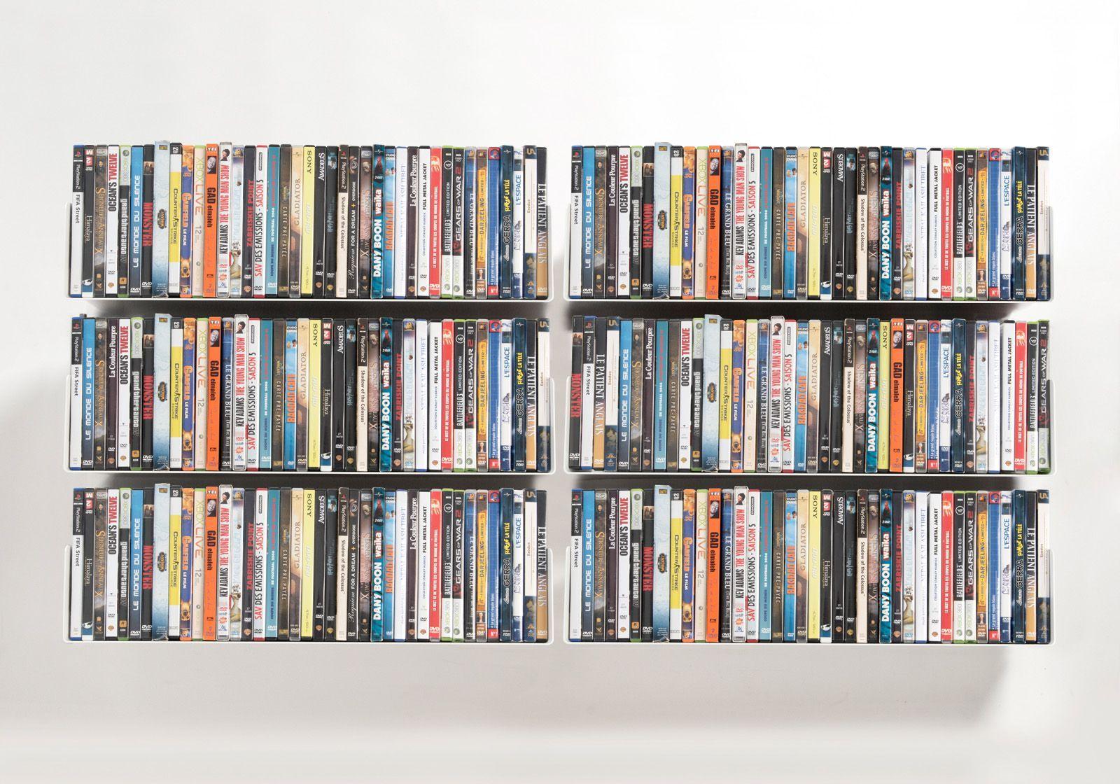 Set of 6 UDVD - DVD shelves