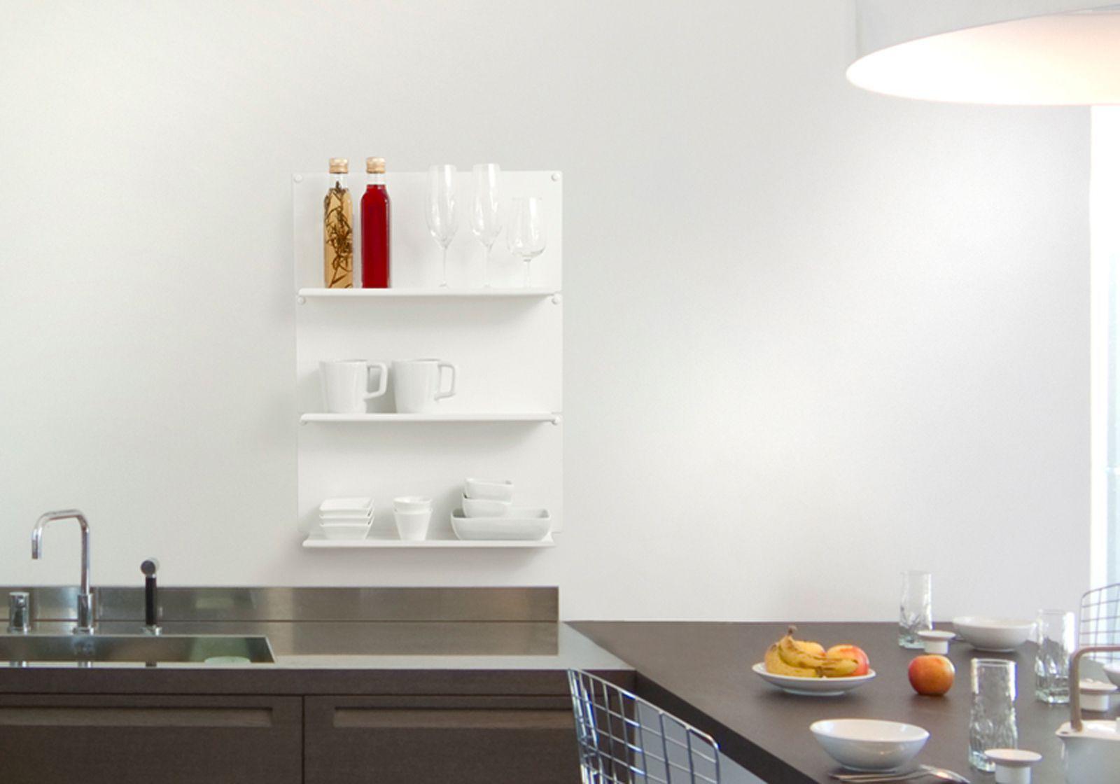 Mensola per cucina le set di 4 45 cm acciao for Mensole per quadri