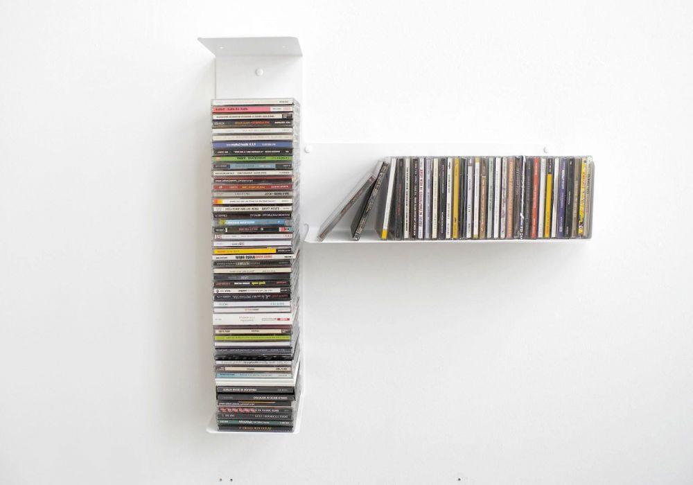 """Étagère range CD """"T"""" asymétrique DROITE"""