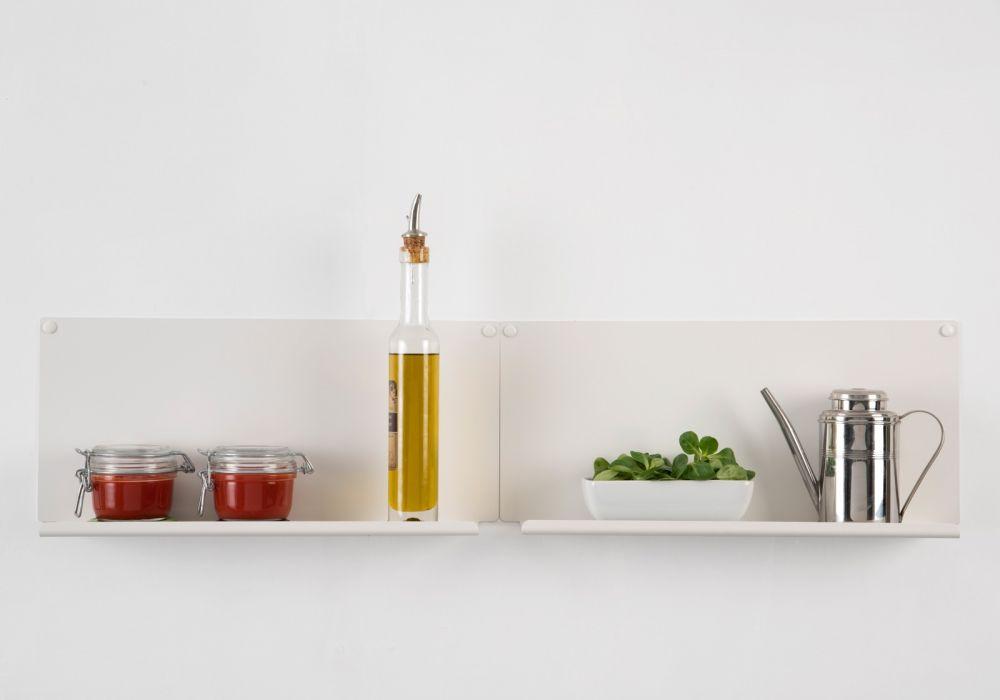 """Set of 2 Kitchen wall shelves """"LE"""" horizontal"""