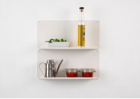 "Set of 2 Kitchen wall shelves ""LE"" vertical"