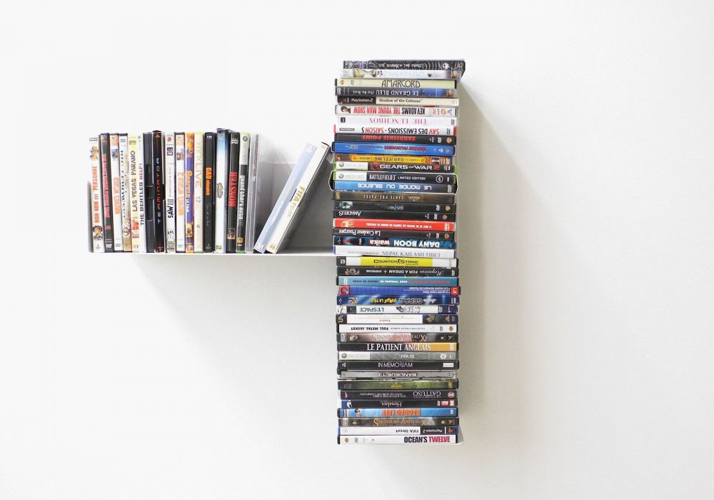 "Asymmetrical DVD shelf ""T"" LEFT"