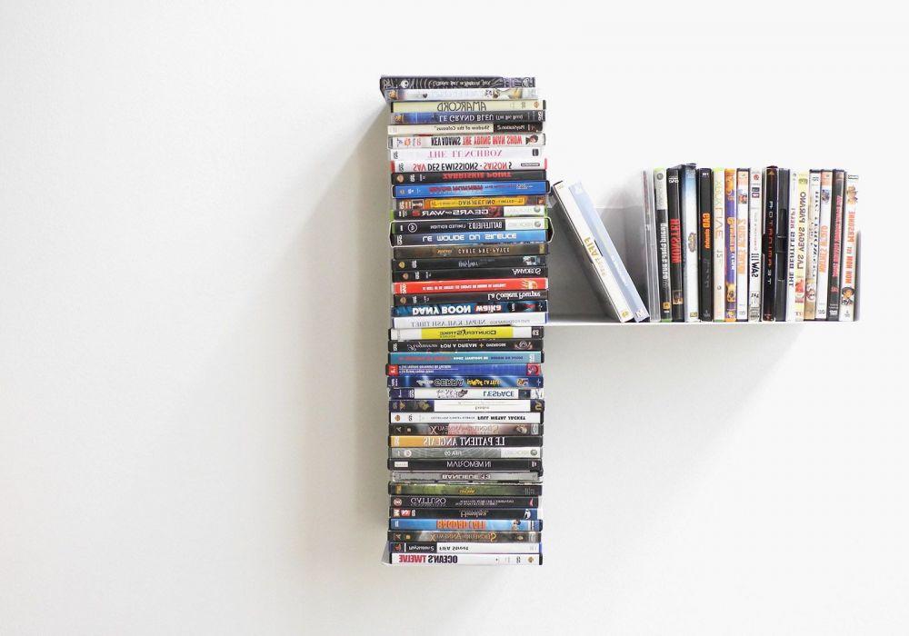 "Asymmetrical DVD shelf ""T"" RIGHT"