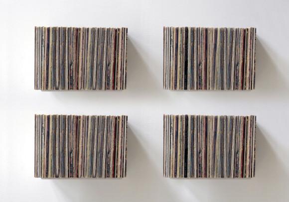 "Schallplattenregal ""UBD"" - Set aus 4 Regalen - 60-70 Vinyls - Stahl"