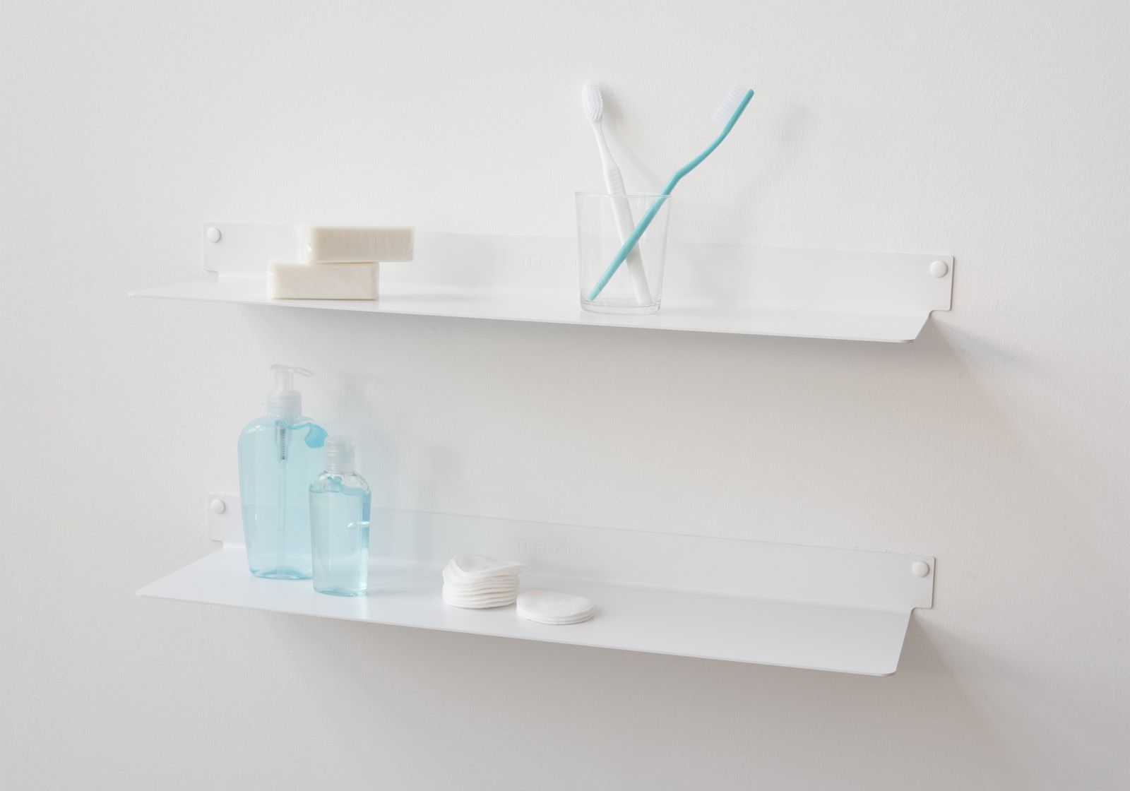 Tag re salle de bain teeline 45 cm lot de 2 acier - Etageres salle de bain ...