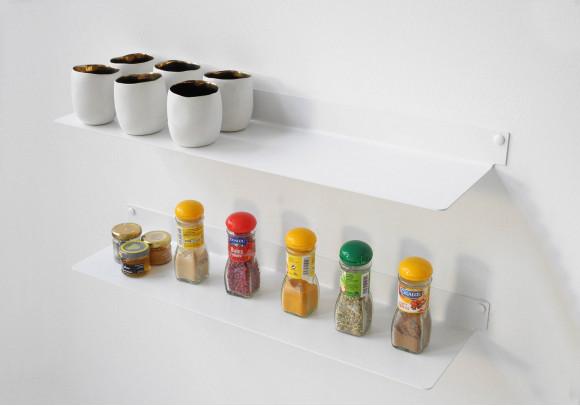 Mensole per cucina TEEline 60 cm - Set di 2 - Acciao