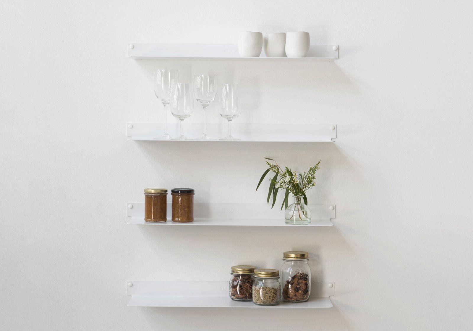 Mensole per cucina teeline 45 cm set di 2 acciao for Mensole per quadri