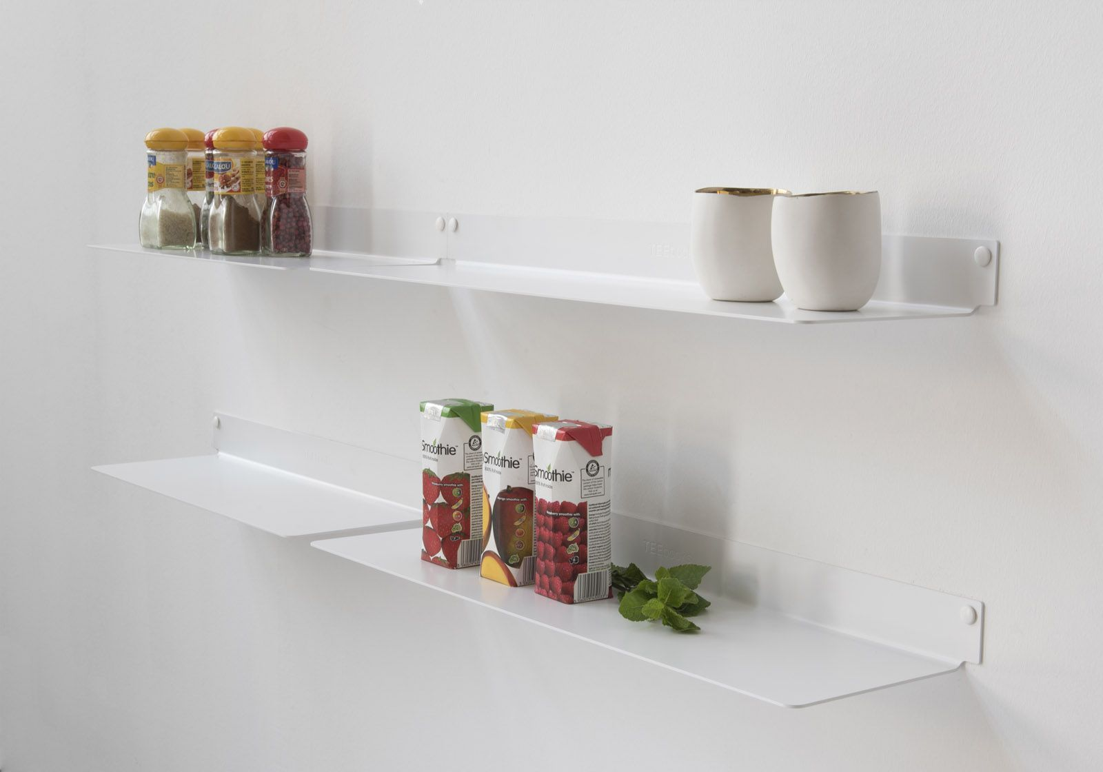 Mensole per cucina teeline 60 cm set di 4 acciao - Mensole per cucine ...