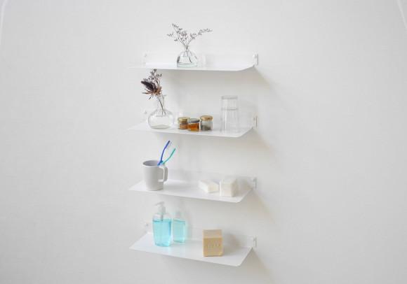 Étagère salle de bain 45 cm - Lot de 4