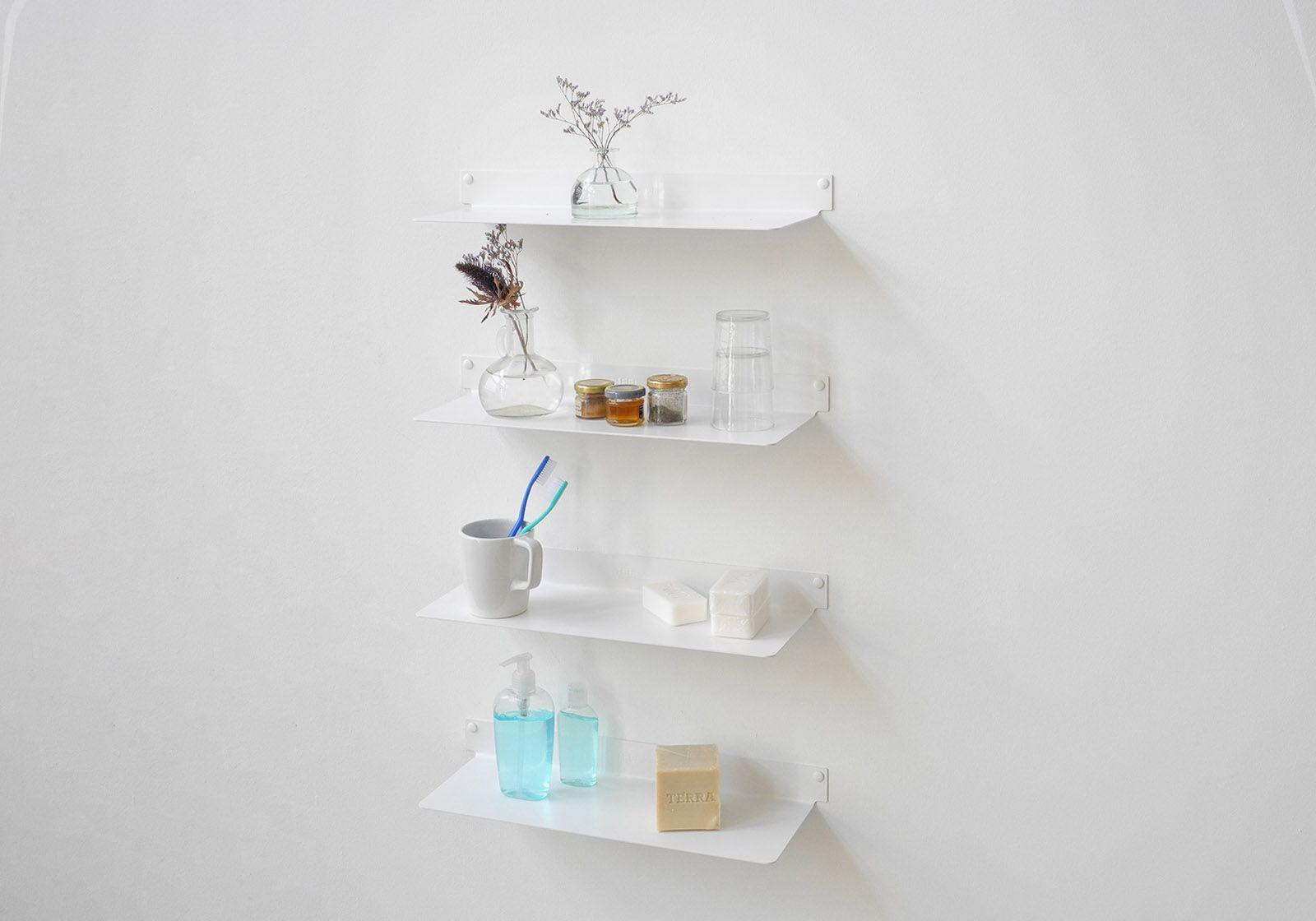 Mensole per bagno TEEline 45 cm - Set di 4 - Acciao