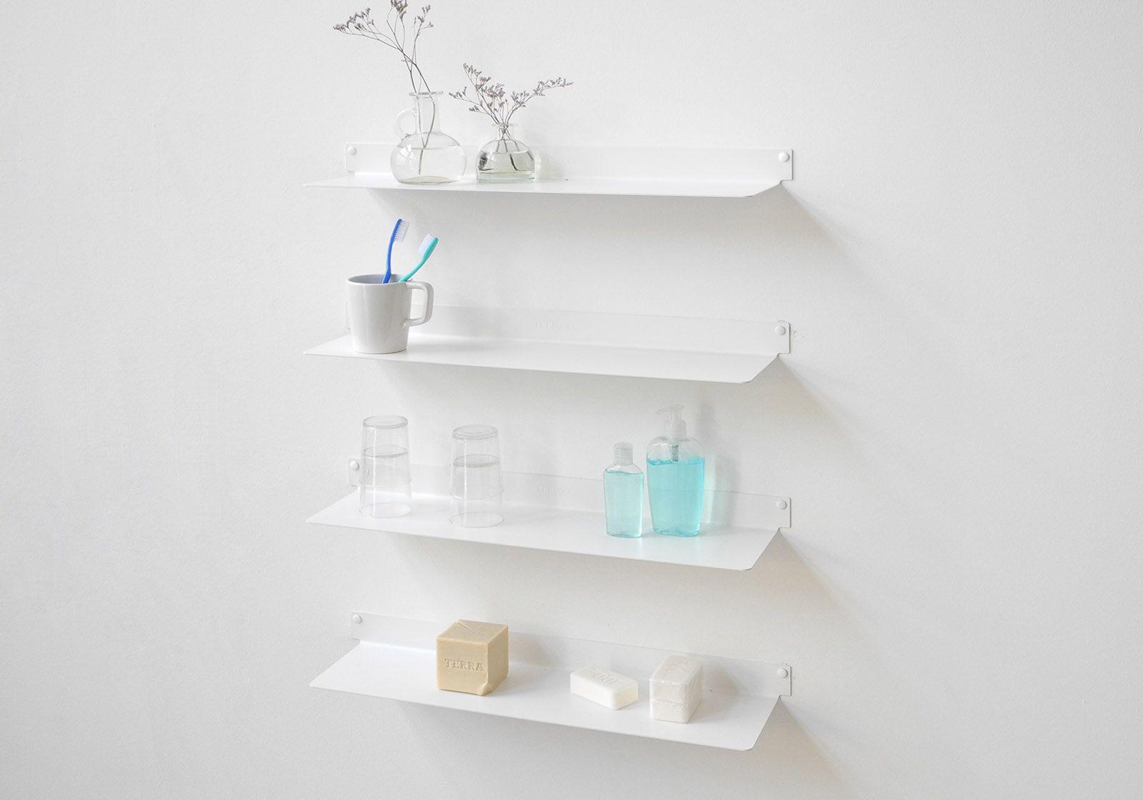 Étagère salle de bain TEEline - 60 cm - Lot de 4 - Acier