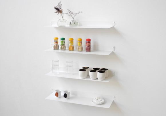 Mensole per cucina TEEline 60 cm - Set di 4 - Acciaio