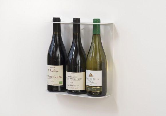 Étagères porte bouteilles TEEwine - 3 Bouteilles - 28x28 cm - Acier
