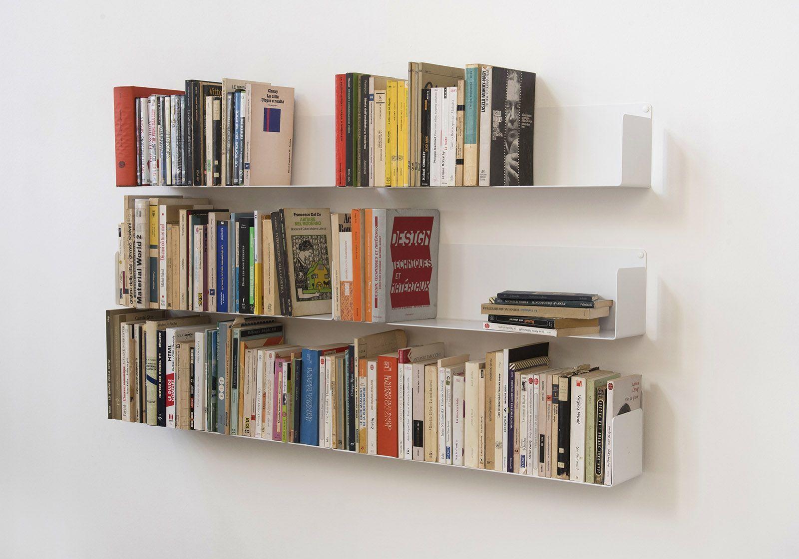 mensole per libri u set di 6 60 cm acciao