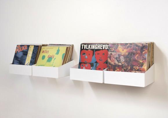 Étagère de rangement pour vinyles - Lot de 4