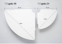 Set mit 2 Eckregal TEEgolo 24 cm