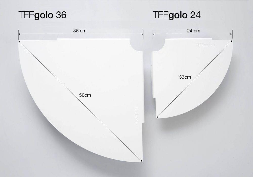 Set di 2 mensole d'angolo TEEgolo 36cm
