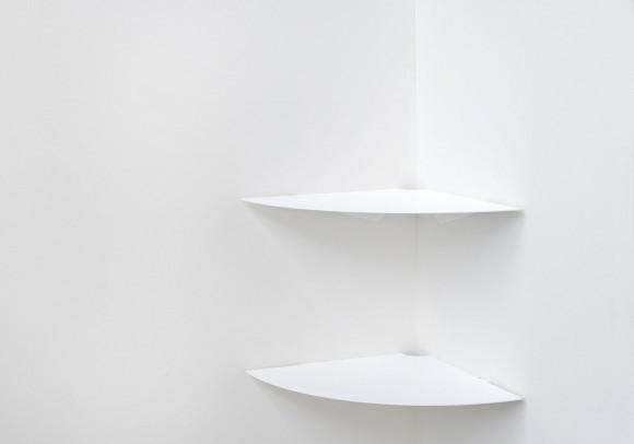 Étagère d'angle pour la cuisine TEEgolo - 36 cm - Lot de 2 - Acier