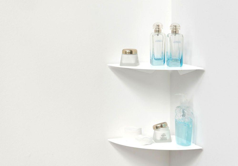 Étagère salle de bain TEEgolo 24cm - Lot de 2