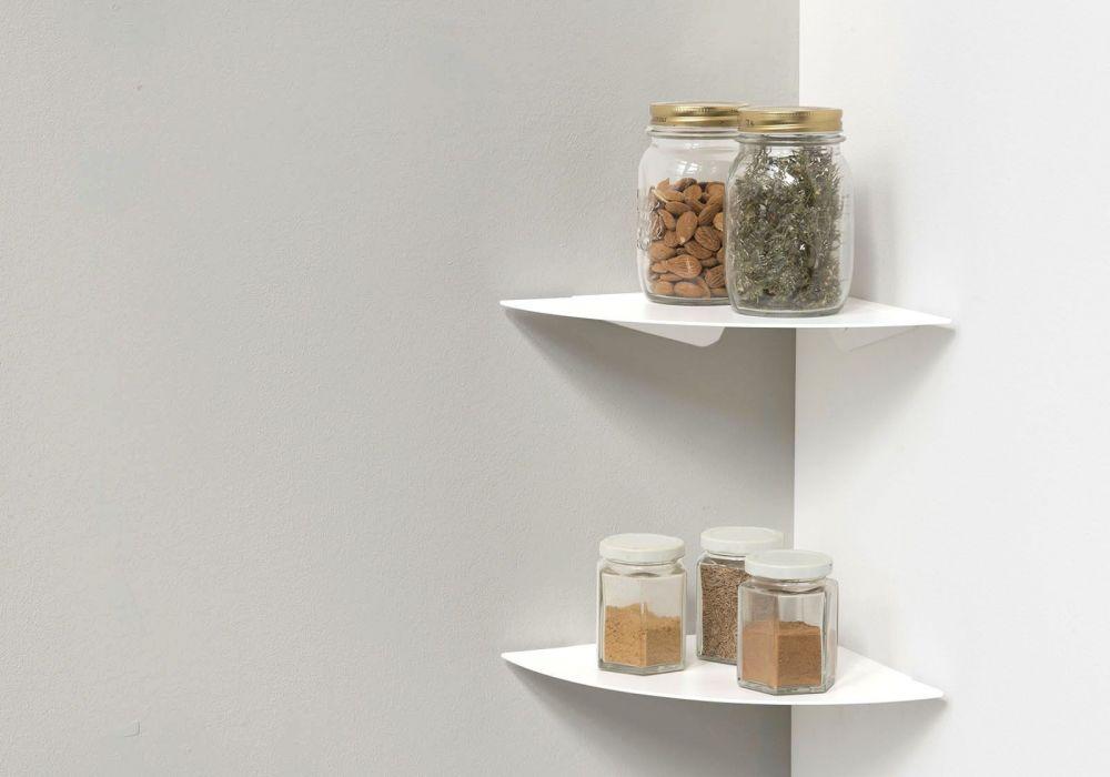 Mensole per cucina TEEgolo 24 cm - Set di 2 - Acciao