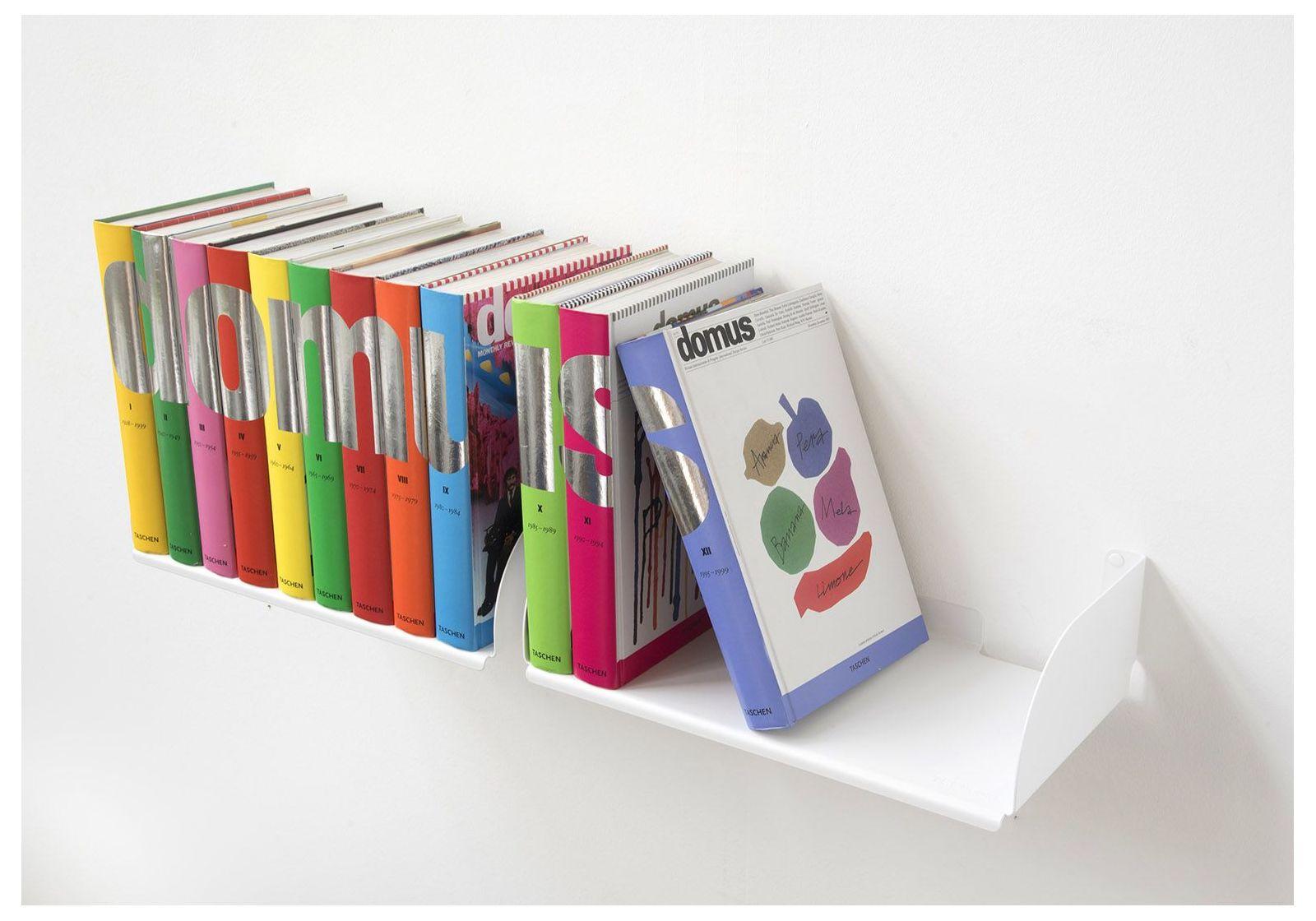 mensole per libri ubd set di 2 45 cm acciao