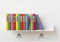 """Étagère pour livre """"UBD"""" - Lot de 2 - 45 cm - Acier - Jusqu'à 40 kg"""