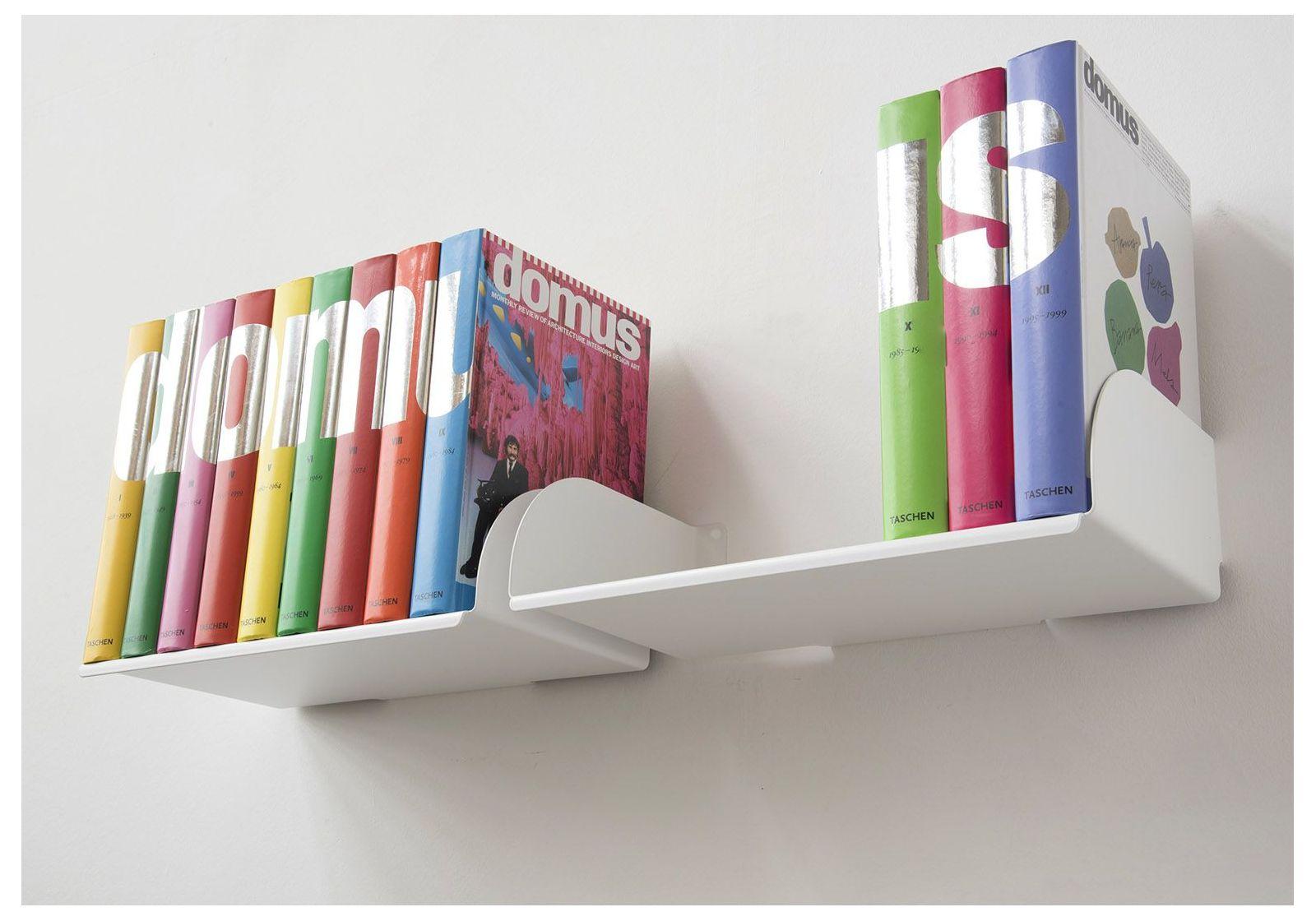 Mensole per libri ubd set di 4 45 cm acciao for Mensole libreria